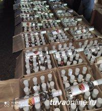 В Туве жителя Ак-Довурака задержали на попытке сбыть землякам 1,7 тонны нелегальной спиртной продукции