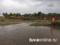 В Туве уровень воды на реках Енисея значительно поднялся