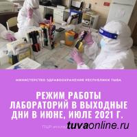 Минздрав Тувы опубликовал режим работы лабораторий для сдачи ПЦР-анализа и ИФА