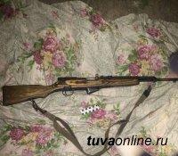 В Туве установили подозреваемого, похитившего оружие с чабанской стоянки