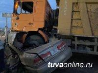 В Туве за неделю в автоавариях  травмировано 7 граждан, погибло 10, из них двое детей