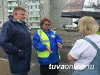 В Кызыле в разгаре ремонтные работы на дорогах