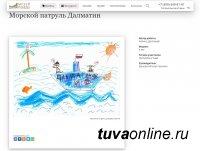 Рисунок 6-летней Алины Даспаакай стал призером конкурса рисунков о фронтовых собаках
