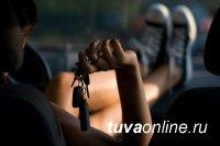 В Кызыле полицейские задержали женщину, совершившую дорожно-транспортное происшествие на угнанной автомашине