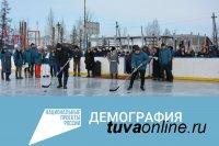 В Туве «Совет молодых врачей» построит еще три хоккейные коробки