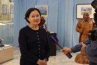 В открытии выставки «Кужугет Шойгу — ровесник ТНР» приняли участие члены семьи Шойгу