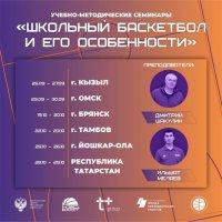 Мастер-класс по школьному баскетболу в Туве провели именитые тренеры Дмитрий Шакулин и Ильшат Меляев